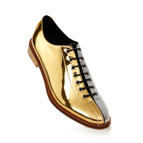 The Dude Two-Tone Silver and Gold Bowling Shoes