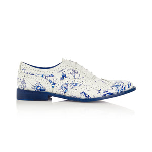 Porcelain Blue and White Brogue Shoes