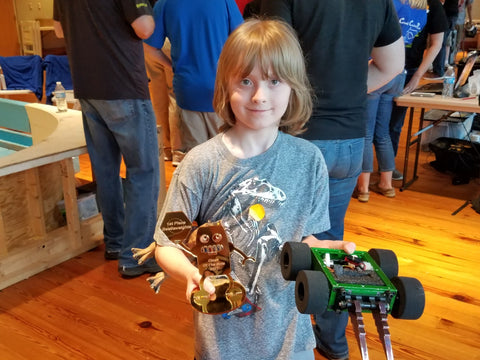 Sawyer Wright wins beetleweight division at Clash of the Bots!