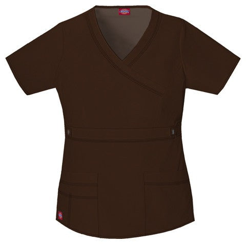 Women's Gen Flex Youtility Mock Wrap Top - Chocolate