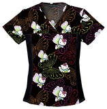 Women's Tooniforms Flexibles V-Neck Top - Dots Of Butterflies