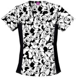 Women's Tooniforms Flexibles V-Neck Top - Big Minnie