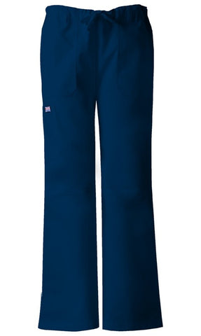 Women's Workwear Drawstring Cargo Pant - Navy