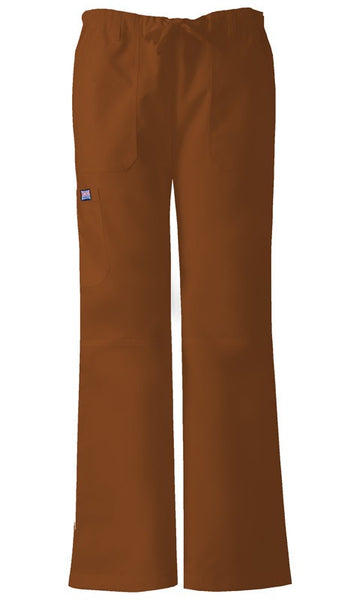 Women's Workwear Drawstring Cargo Pant - Chocolate