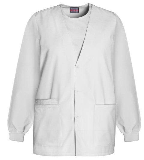Women's Workwear Cardigan Warm Up - White