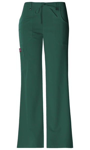Women's Mid Rise Drawstring Cargo Pant - Hunter