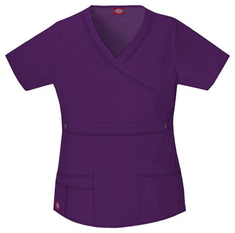 Women's Gen Flex Youtility Mock Wrap Top - Eggplant