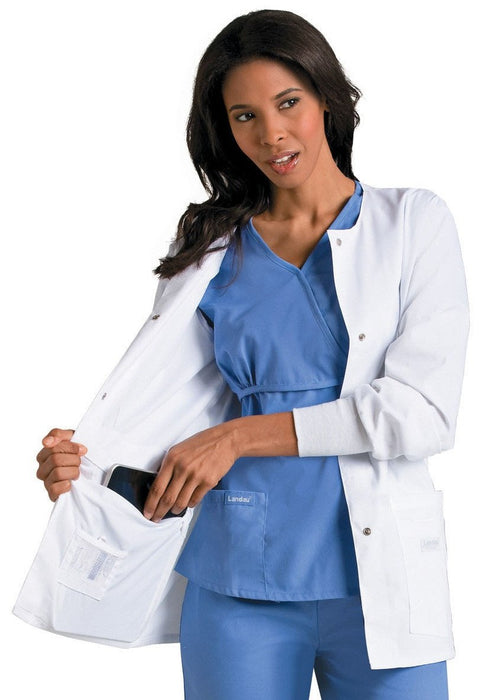 Women's Modern Notebook Lab Coat - White