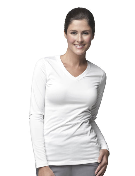 Women's Work Dry Long Sleeve V-Neck Performance Top