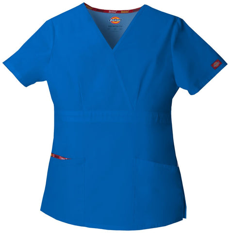 Women's Everyday Scrubs Signature Mock Wrap Top - Royal