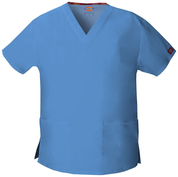 Women's Everyday Scrubs Signature V-Neck Top - Ceil Blue