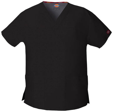 Women's Everyday Scrubs Signature V-Neck Top - Black