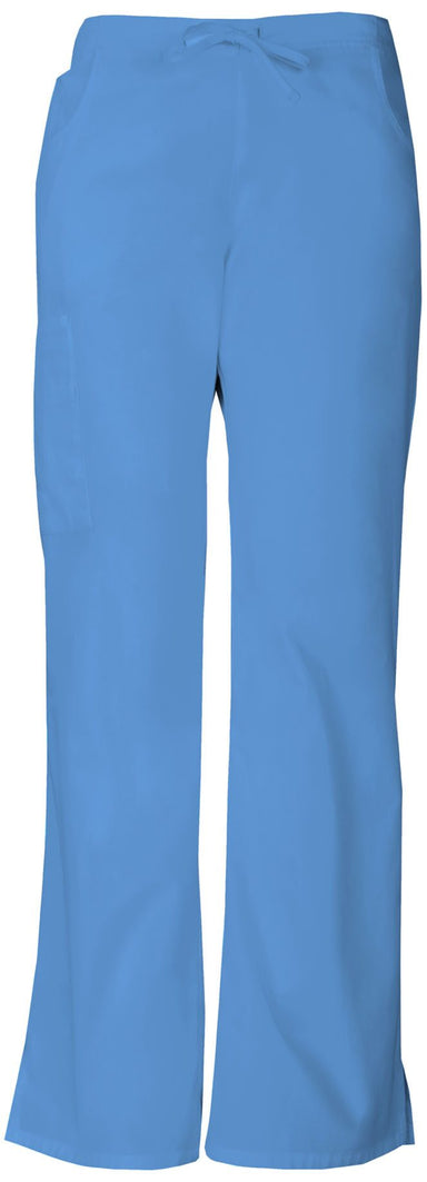Women's Everyday Signature Mid Rise Drawstring Cargo Pant - Ceil Blue
