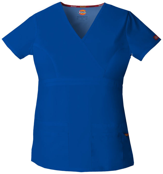 Women's Everyday Scrubs Signature Mock Wrap Top - Galaxy Blue