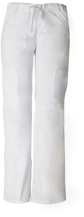 Women's Everyday Scrubs Signature Low Rise Drawstring Cargo Pant - White