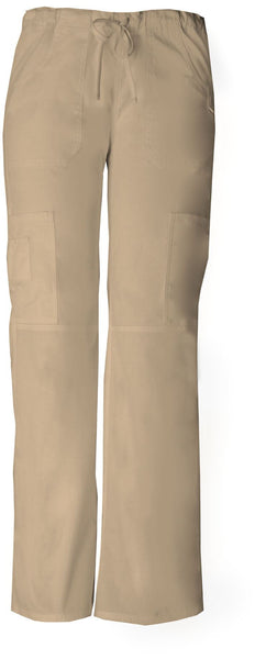 Women's Everyday Scrubs Signature Low Rise Drawstring Cargo Pant - Khaki