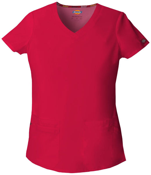 Women's Everyday Scrubs Signature V-Neck Top - Red