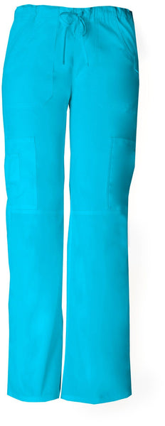 Women's Everyday Scrubs Signature Low Rise Drawstring Cargo Pant - Turquose
