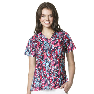 Women's V-Neck Print Top