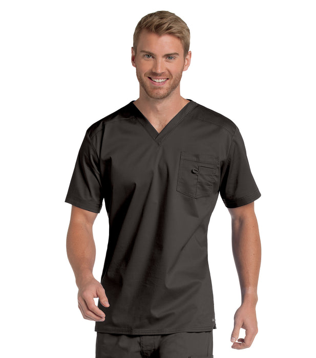 Scrub Shopper Men's Stretch V-Neck Top - Scrub Shopper