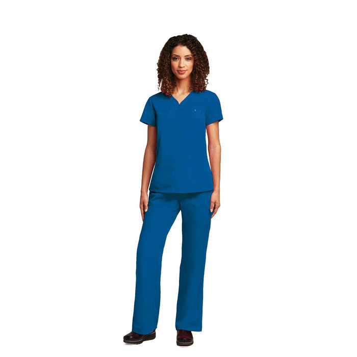 Women's 3 Pocket V-Neck Top - New Royal