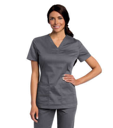 Scrub Shopper Women's All Day Y-Neck Scrub Tunic - Scrub Shopper