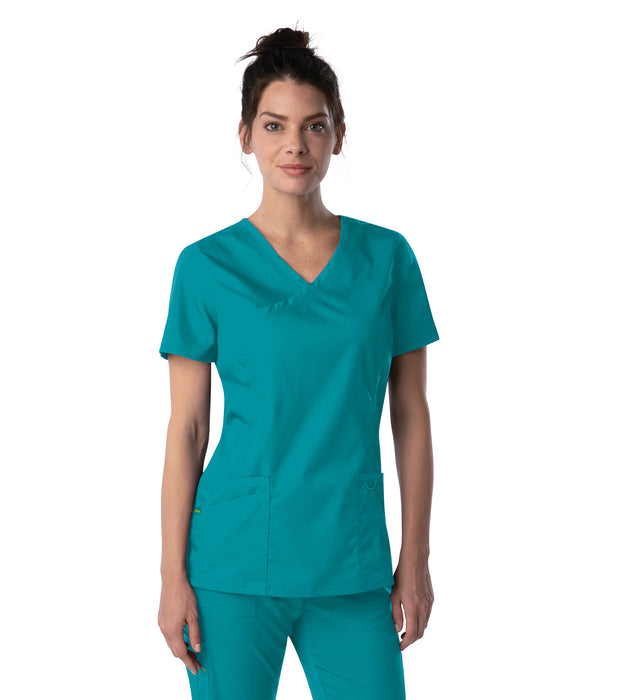 Scrub Shopper Women's Modern Faux Surplice Tunic - Scrub Shopper