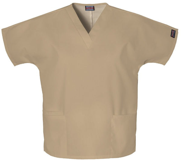 Women's Workwear V-Neck Top - Dark Khaki