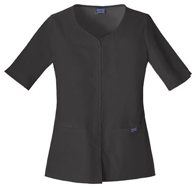 Women's Workwear Button Up Top - Black