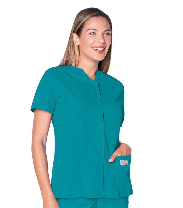 Scrub Shopper WOMENS SNAP FRONT TUNIC - Scrub Shopper