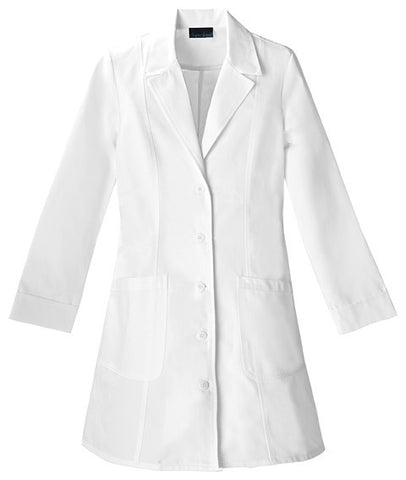 "Women's 36"" Notched Collar Lab Coat"