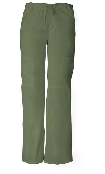 Women's Everyday Scrubs Signature Low Rise Drawstring Cargo Pant - Olive