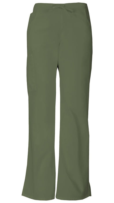 Women's Everyday Signature Mid Rise Drawstring Cargo Pant - Olive