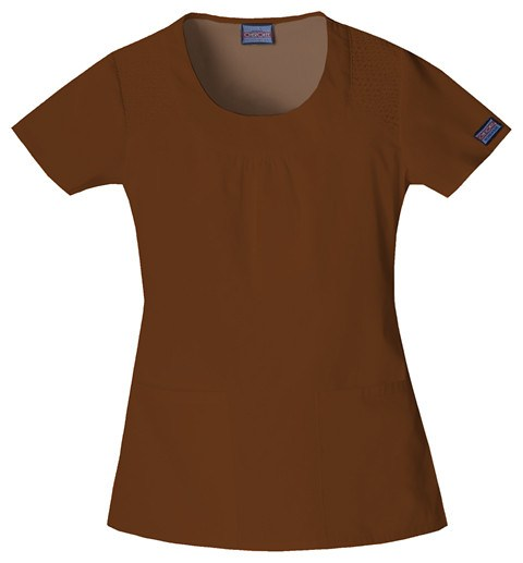 "Women's Workwear ""U"" Shape Top - Chocolate"