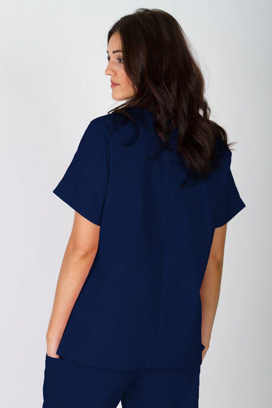 Workwear V-Neck Top - Navy