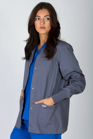 Women's Warm Up Jacket - Steel Grey