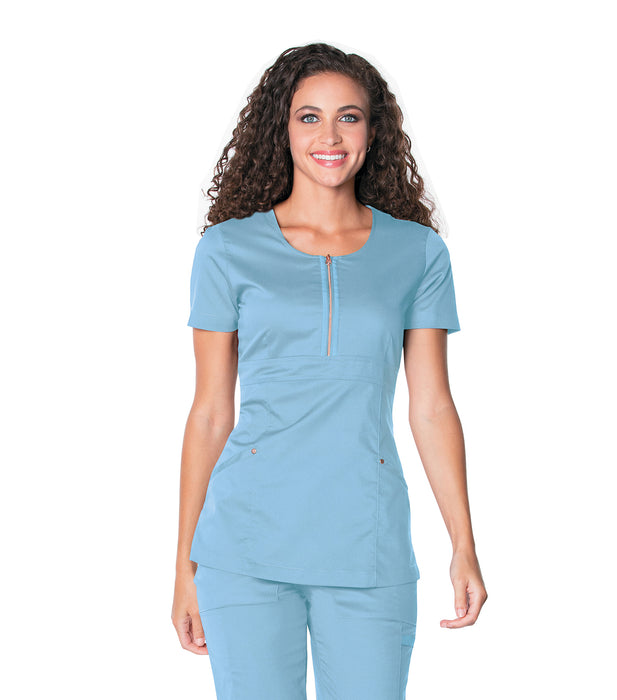 Scrub Shopper Diva Zip-Front Women's Tunic - Scrub Shopper