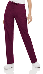 Women's Cargo Drawstring Pant - Wine