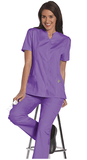 Women's Snap Front Tunic - Orchid