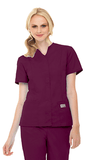 Women's Snap Front Tunic - Wine