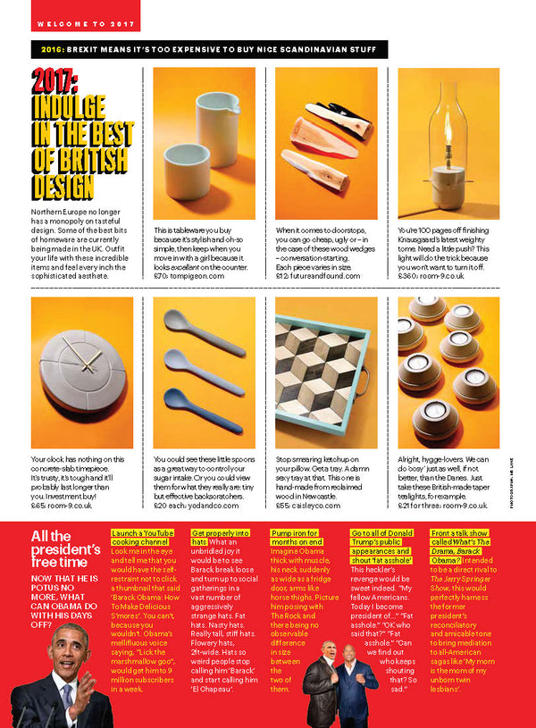 Shortlist Magazine Featuring our Mr & Mrs Teaspoons