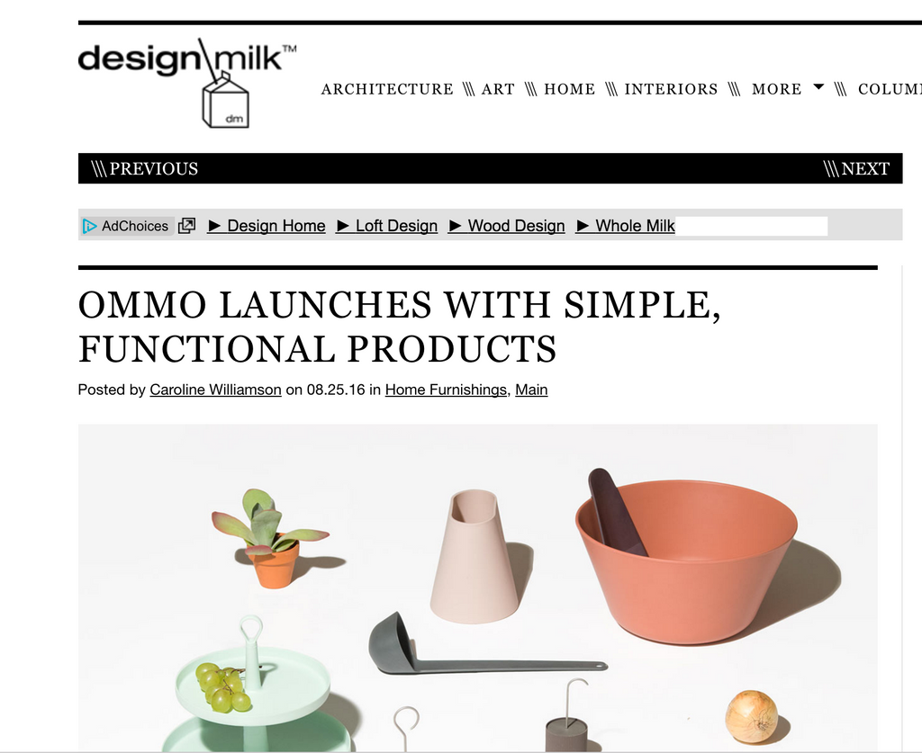 Design Milk and OMMO