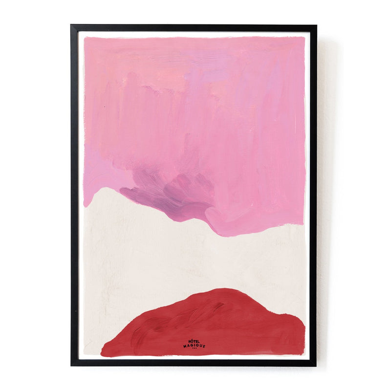 Pink White and Red Art Print by Hotel Magique.