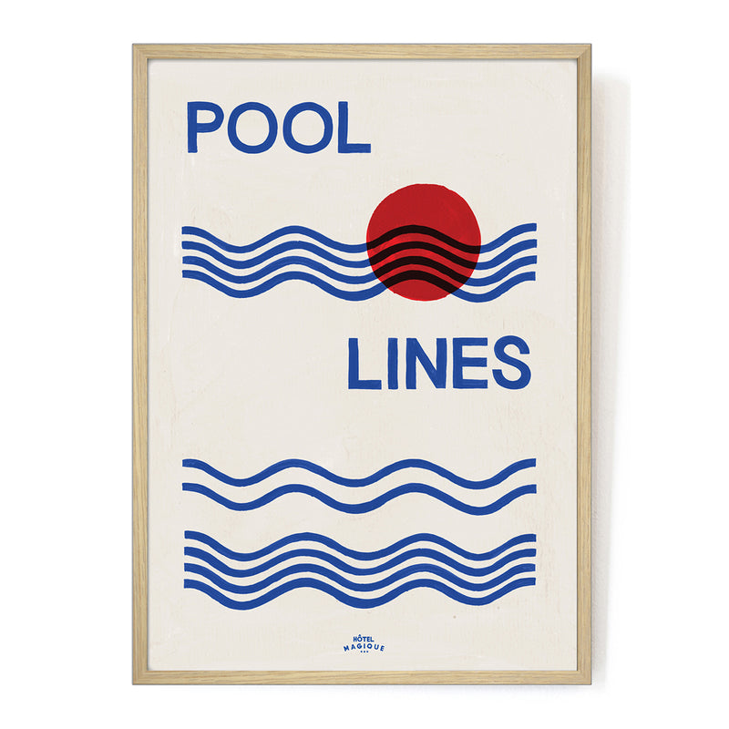 Pool Lines Art Print by Hotel Magique