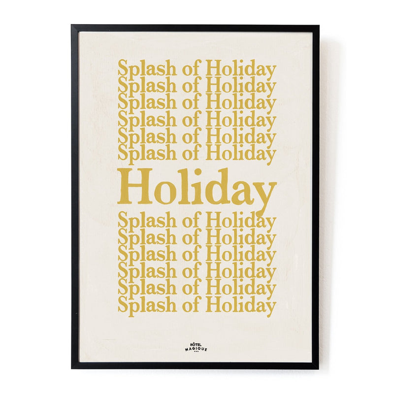 A splash of holiday art print by Hotel Magique