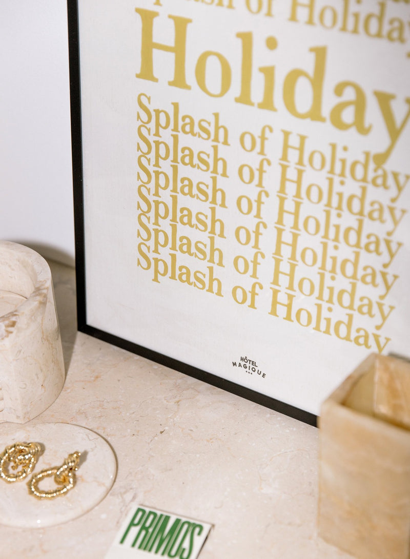 A splash of holiday print by Hotel Magique