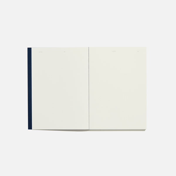 Before Breakfast blue dot notebook opened handmade in london available at yod and co