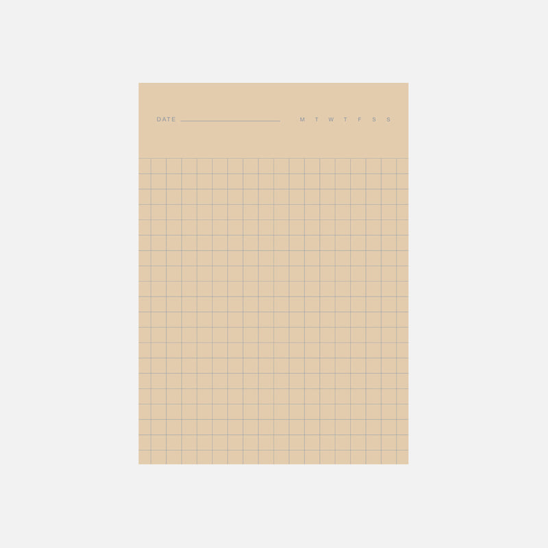 Before Breakfast 2in1 note pad in cream and brown with graph and line rule