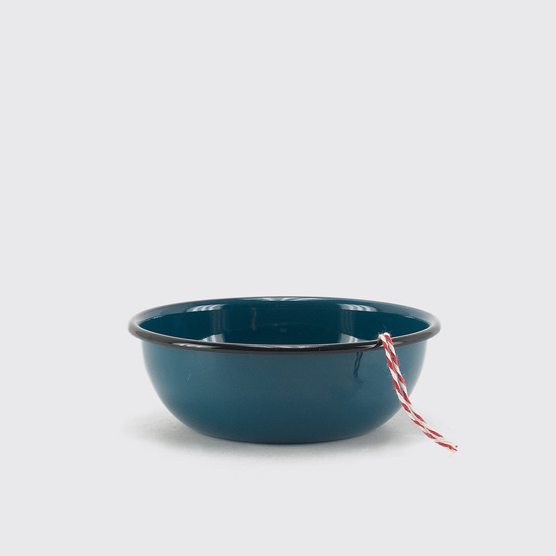 Blue Enameled small Bowl by Utilitario Mexicano