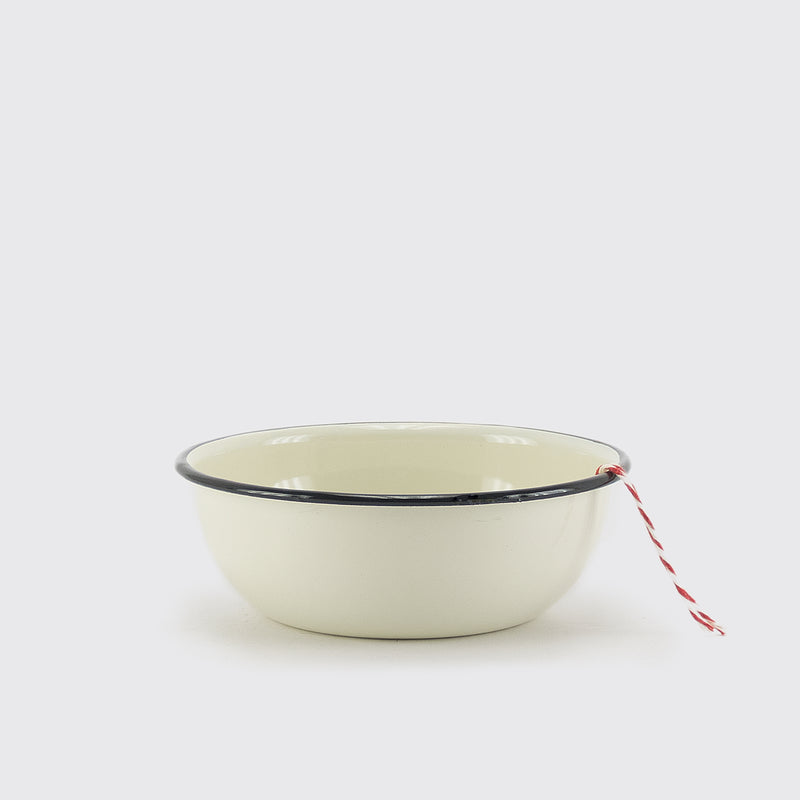 Cream Enameled small Bowl by Utilitario Mexicano